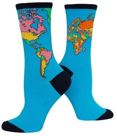 World Map Socks from The Sock Drawer