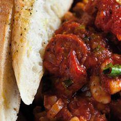 Spicy+chorizo,+tomato+and+white+beans