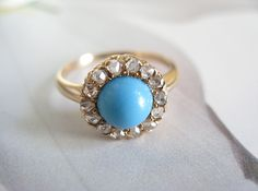 diamonds and turquoise