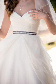 Wedding Dress | on SMP | Photography: B&G Photography  I really like the belt/sash, just a little bit of beadwork