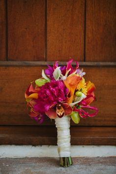 Pink, Orange, & Aqua Florida Wedding, Rosemary Beach Wedding by Pure 7 Studios « wedding day bouquet