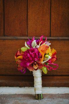 Pink, Orange, & Aqua Florida Wedding, Rosemary Beach Wedding by Pure 7 Studios « wedding day bouquet