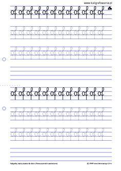kaligrafowanie.pl ?q=node 28&p=11 Asd, Sheet Music, Classroom, School Stuff, Therapy, Class Room, Music Sheets
