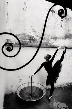 Dancer as part of still life. by Andrey Klemeshov...black and white photography