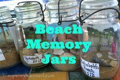 Beach Memory Jars  easy #kidcraft #craft #masonjar