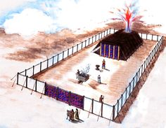 Painting of the Tabernacle in the Old Testament