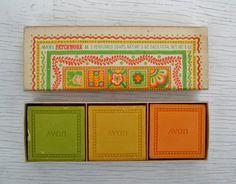 Vintage Avon Patchwork Perfumed Soaps by Raidersoflostloot on Etsy