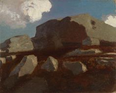 Odilon Redon LANDSCAPE | Odilon Redon Landscape With Rocks Near Royan