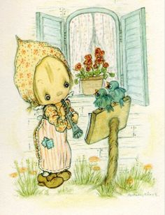 My sweet Granny would send me Betsy Clark cards - I still have them!