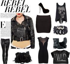 Rebel in black, created by jenniferkonkelaar on Polyvore