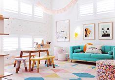20 Fantastic Kids Playroom Design Ideas – My Life Spot Playroom Design, Playroom Decor, Design Room, Playroom Ideas, Passion Deco, Colorful Playroom, Toy Rooms, Kid Spaces, Girl Room