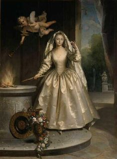 Madame Boucher, nee Marie-Francoise Perdrigeon (1717-1734) by Jean Raoux, 1733.