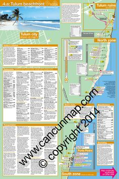 Riviera Maya hotel map-- tulum