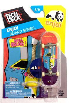 Tech Deck Skateboard Pro Enjoi Series Mall Grab stand and sticker 3/6