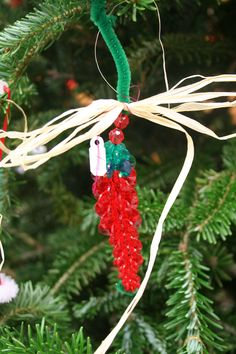 Third Grade - Beaded Chili Pepper Ornament