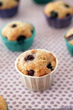 Sweet Blueberry Corn Muffins | Cinnamon Spice & Everything Nice