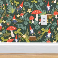 Wallpaper Roll, Peel And Stick Wallpaper, Self Adhesive Wallpaper, Custom Wallpaper, Removable Wallpaper For Renters, Unusual Wallpaper, Mushroom Wallpaper, Perfect Wallpaper