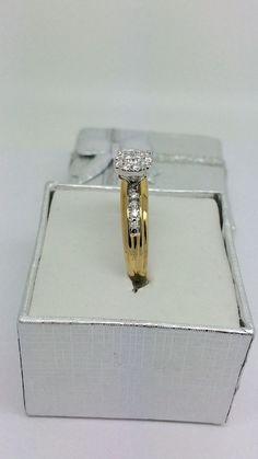 14K Diamond Cluster Ring by ddavishop on Etsy