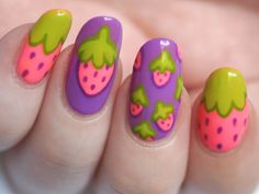 strawberries #nail #nails #nailart