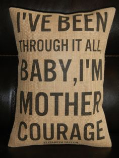 Subway Art Mother Courage Elizabeth Taylor by PolkadotApplePillows, $22.95