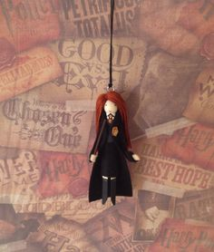 Ginny Weasley Clothespin Doll Ornament by LittleParade on Etsy