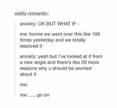 Fuck you, Anxiety.