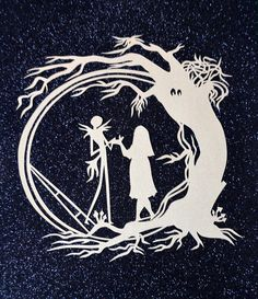 Nightmare Before Christmas Papercut //Jack and by LagoDosSonhos http://hdw.eweb4.com/search/nightmare+before+christmas/