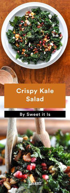 8. Crispy Kale Salad #healthy #fall #salads http://greatist.com/eat/healthy-fall-salad-recipes