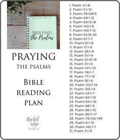 Psalms Bible Reading Plan for January 2021 - RachelWojo.com Daily Bible Reading Plan, Scripture Reading, Family Bible Study, Bible Study Plans, Praying The Psalms, Psalm 17, Writing Plan, Prayers For Children, Prayer For Today