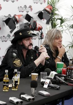Lemmy and Mikkey Mikkey Dee, Ace Of Spades, Rockn Roll, Classic Rock, Good Music, Heavy Metal, Captain Hat, Punk, Guitars