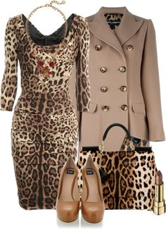 Leopard Outfits, Animal Print Outfits, Leopard Fashion, Animal Print Fashion, Urban Fashion, Look Fashion, Autumn Fashion, Fashion Outfits, Womens Fashion
