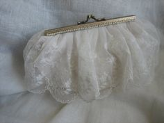 Ivory Silk Dupion and Antique Lace Bag Special by Tabithy Creations