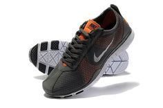 best service 11a4c d6e52 Nike Free TR Twist Mens Dark Grey Orange Running Trainers 203503 841