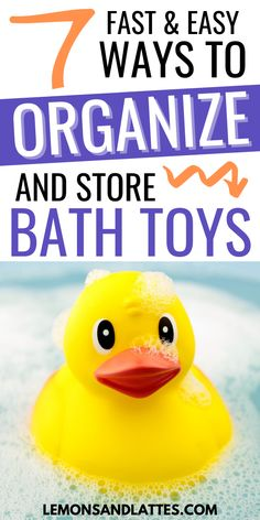Super easy bath toy organization ideas anyone can do! The best bath toy holders and organizers for a clutter-free bathroom! Bath Toy Storage, Bath Toy Organization, Organization Ideas, Storage Ideas, Organizing Kids Books, Organize Kids, Best Bath Toys, Toddler Playroom, Organizers