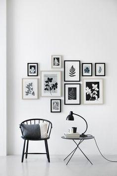 Leaf prints arrangement by Pernille Møller Folcarelli (COCO LAPINE DESIGN)