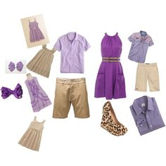 Family In coordinated purples. by ninabashawphotography on Polyvore