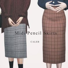 AF Midi Pencil Skirts for The Sims 4