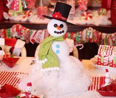 Snowman party DIY