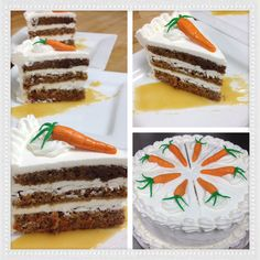 Carrot cake :) yummy yummy, and I plated it all up and gave it away! :) Great dieting on my part!