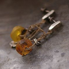 Hey, I found this really awesome Etsy listing at https://www.etsy.com/listing/155666775/amber-linen-sterling-silver-studs
