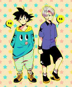 Goten e Trunks Dragon Ball Gt, Goku Y Vegeta, Son Goku, Chrono Trigger, Otaku Anime, Anime Manga, Goten E Trunks, Akira, 17 Kpop