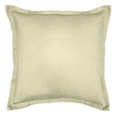 Alcott Hill Bluffridge Linen Euro Pillow Color: Beige