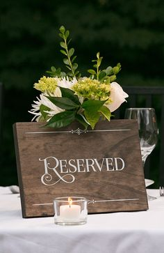 Rustic Chic Wedding Reserved Wood Sign