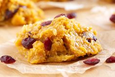 3 cups coconut, fine shred     1 cup coconut, big flake     ½ cup dried cranberries, (I used apple juice sweetened ones)     1 cup honey     ½ cup coconut oil     1 – 15 ounce can pumpkin pureé     ½ Teaspoon cinnamon, (1 Teaspoon for a stronger cinnamon flavor)     2 Teaspoons vanilla extract
