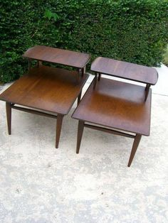 Do you remember these step-up end tables?