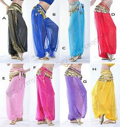 belly dance pants costume | Belly Dance Tribal Costume Balloon Bloomers Trousers Harem Pants ...
