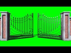 Green Screen Cancello Gate g  Open - Footage PixelBoom - YouTube