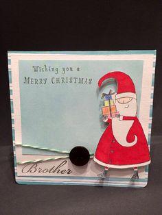 Christmas Card - Handmade Santa Christmas Card on Etsy, £2.99