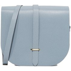 Cambridge Satchel Large Saddle Bag (£125) ❤ liked on Polyvore featuring bags, handbags, shoulder bags, french gray grain, gray handbags, grey leather purse, leather purses, grey leather shoulder bag and gray leather purse
