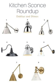 Kitchen Sconce Obsession and a Roundup